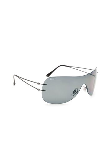 Ray-Ban Unisex Shield Sunglasses 0RB8057154/8134-154/81 at myntra