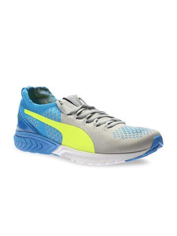 Puma Men Grey IGNITE Dual PROKNIT Running Shoes at myntra