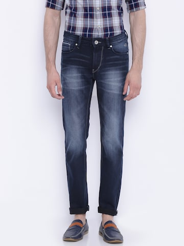 Flying Machine Men Blue Skinny Fit Mid Rise Clean Look Jeans at myntra