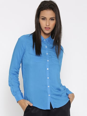 United Colors of Benetton Women Blue Casual Shirt at myntra