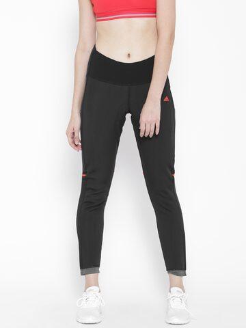Adidas Black Cycling Track Pants at myntra