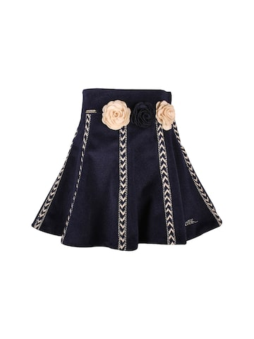 CUTECUMBER Girls Navy Flared Skirt at myntra