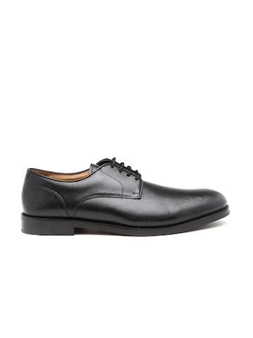 Clarks Men Black Coling Walk Leather Derby Shoes at myntra