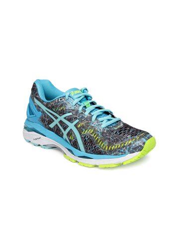 ASICS Women Grey & Blue Gel Kayano 23 Running Shoes at myntra