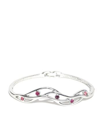 Estelle Silver-Toned Stone-Studded Bracelet at myntra