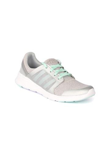 Adidas NEO Women Grey Woven Regular Sneakers at myntra