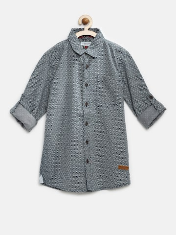 U.S. Polo Assn. Kids Boys Blue Printed Casual Shirt at myntra
