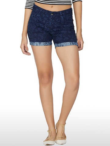 Kraus Jeans Women Blue Printed Shorts at myntra