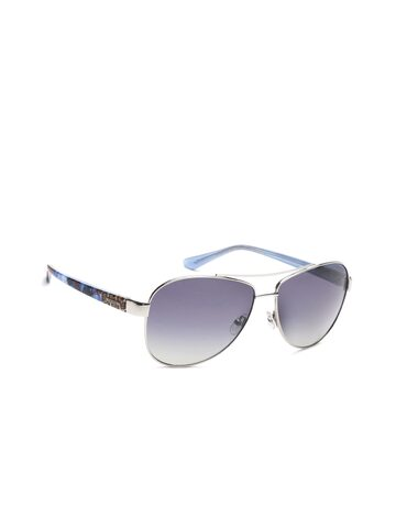 GUESS Unisex Mirrored Oval Sunglasses 7384 10X at myntra