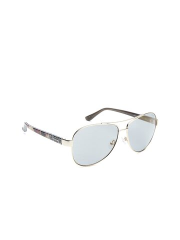 GUESS Unisex Oval Printed Sunglasses 7384 32C at myntra
