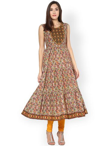 Libas Women Multicoloured Printed Anarkali Kurta at myntra