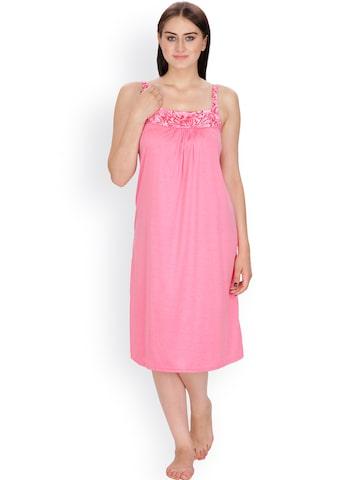 Klamotten Pink Nightdress N54R at myntra