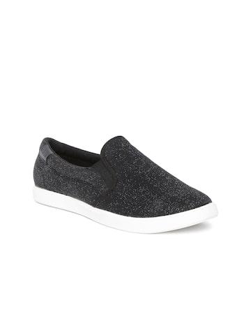 Crocs Women Black Solid Regular Slip On Sneakers at myntra