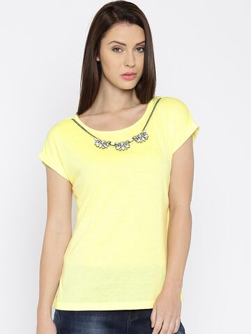 Jealous 21 Women Yellow Top at myntra