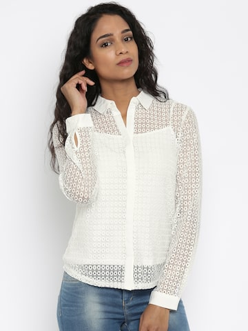 Jealous 21 Women White Solid Casual Shirt at myntra