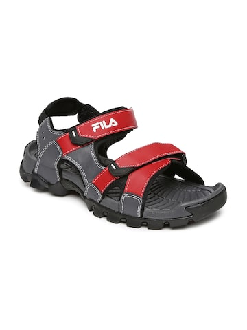 FILA Men Grey & Red Review Sports Sandals at myntra