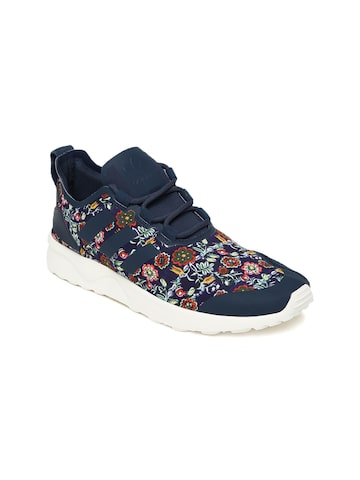 Adidas Originals Women Navy Blue Printed Sneakers at myntra