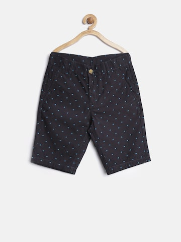 United Colors of Benetton Boys Black Printed Shorts at myntra