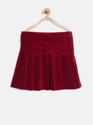 United Colors of Benetton Girls Maroon Pleated Flared Skirt at myntra