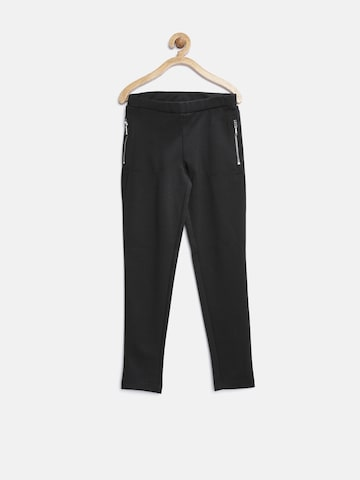 United Colors of Benetton Girls Black Jeggings at myntra