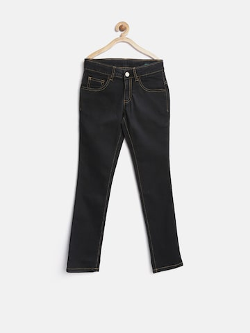 United Colors of Benetton Boys Black Regular Fit Mid Rise Clean Look Jeans at myntra