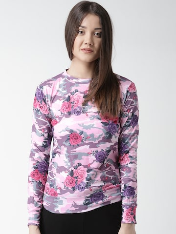 New Look Women Pink Printed Top at myntra