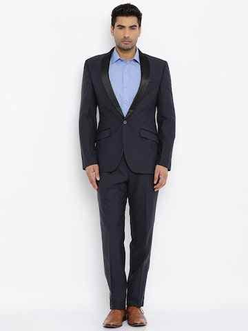 Raymond Navy Single-Breasted Formal Suit at myntra