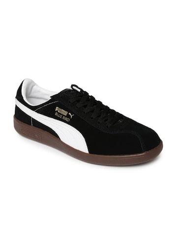 Puma Men Black Bluebird Suede Sneakers at myntra