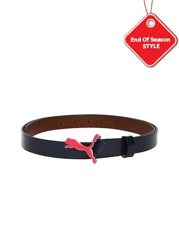 PUMA Women Navy Leather Belt at myntra