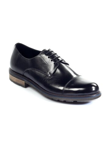 Pavers England Men Black Leather Semiformal Shoes at myntra