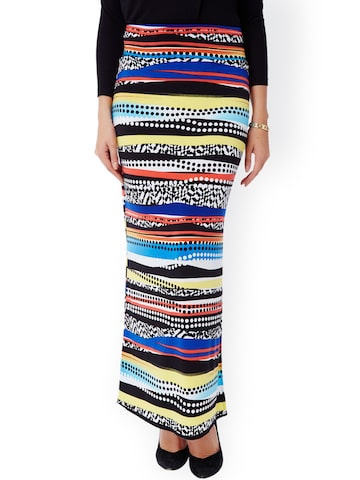 Avirate Multicoloured Printed Maxi Skirt at myntra