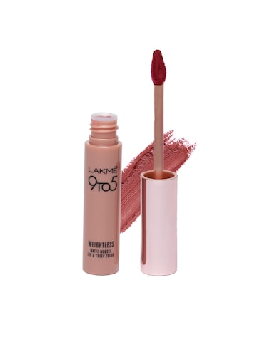 Lakme 9 to 5 Weightless Matte Mousse BurgundyLush Touch Lip & Cheek Color at myntra