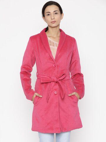 Jealous 21 Women Pink Solid Tailored Jacket Jealous 21 Jackets at myntra