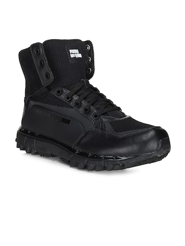 Puma Men Black Solid Mid-Top MCQ CELL Sneakers at myntra