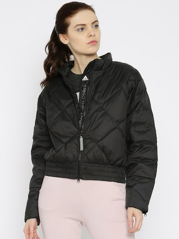Adidas Black Quilted Jacket at myntra