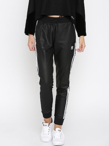 Adidas Originals Black Regular Tp Cuf Track Pants at myntra