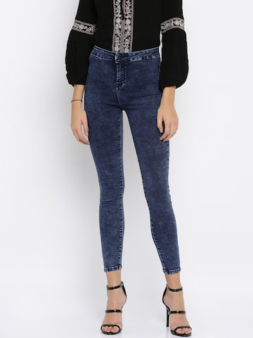 Deal Jeans Blue High-Rise Jeggings at myntra
