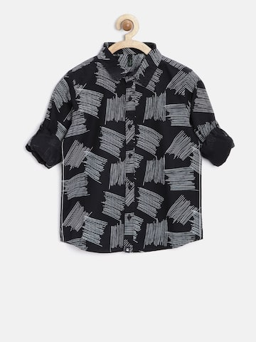 United Colors of Benetton Boys Black Printed Shirt at myntra