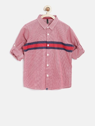 United Colors of Benetton Boys Red Checked Shirt at myntra