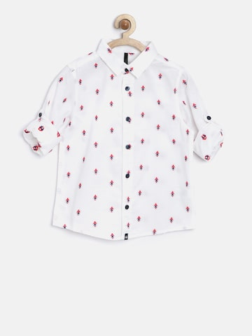 United Colors of Benetton Boys White Printed Casual Shirt at myntra
