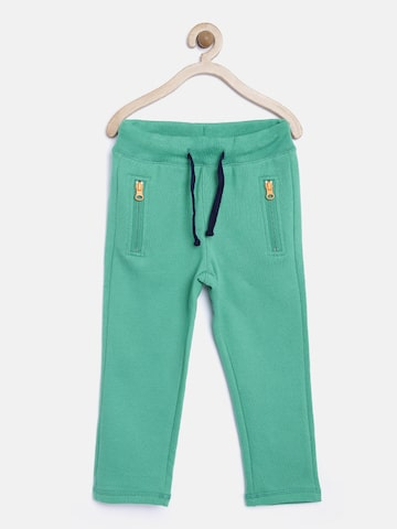 United Colors of Benetton Boys Green Track Pants at myntra