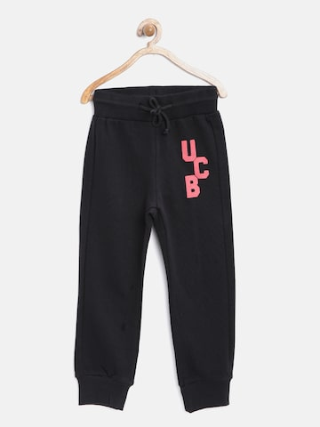 United Colors of Benetton Boys Black Track Pants at myntra