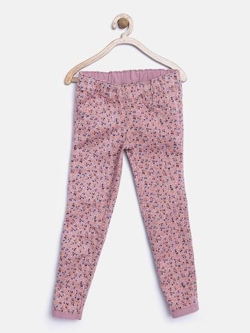 United Colors of Benetton Girls Pink Reversible Jeggings at myntra