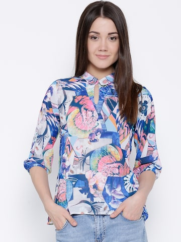 Latin Quarters Women Multicoloured Printed Top at myntra