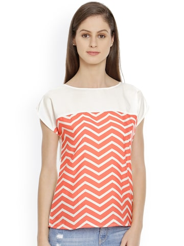 Bombay High Women Off-white Printed Top at myntra