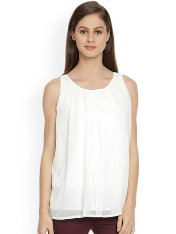 Bombay High Women Off-white Top at myntra