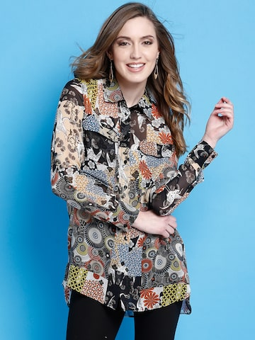 Desigual Women Multicoloured Printed Casual Shirt at myntra