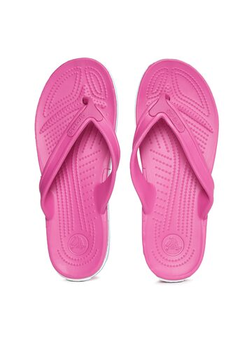 Crocs Unisex Pink Flip-Flops at myntra