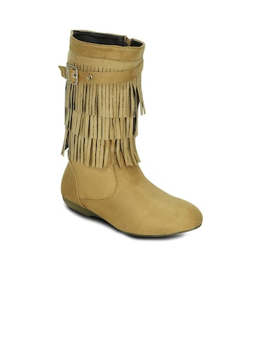 Get Glamr Women Tan Brown Boots at myntra