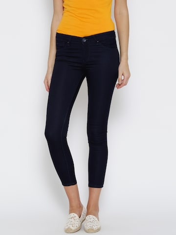 SPYKAR Women Navy Skinny Fit Low-Rise Clean Look Cropped Jeans at myntra